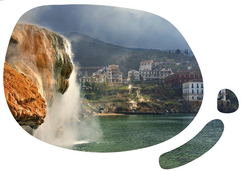 Loutra Edipsou - gorące źródła nad greckim morzem